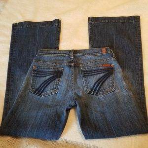 7famk dojo flare Jean's 25 dark wash